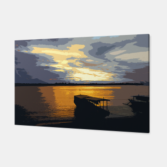 Thumbnail image of Golden Evening At The Beach Canvas, Live Heroes