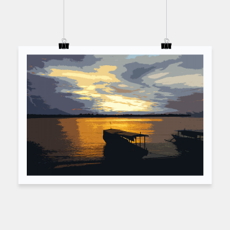 Thumbnail image of Golden Evening At The Beach Poster, Live Heroes