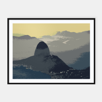 Thumbnail image of Sugarloaf Mountain Colors Framed poster, Live Heroes