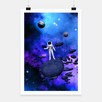 Thumbnail image of Cosmic Hitchhiker Plakat, Live Heroes