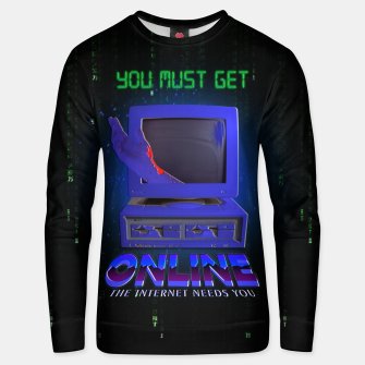 Thumbnail image of online VHS retro Unisex sweater, Live Heroes