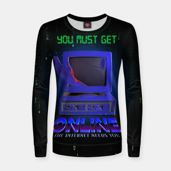 Thumbnail image of online VHS retro Women sweater, Live Heroes