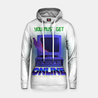 Thumbnail image of online VHS retro Hoodie, Live Heroes
