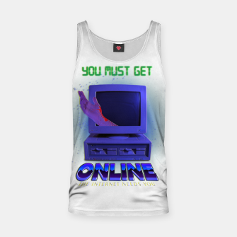 Thumbnail image of online VHS retro Tank Top, Live Heroes
