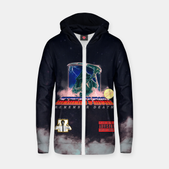 Thumbnail image of memento mori VHS retro Zip up hoodie, Live Heroes