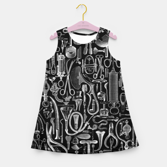 Thumbnail image of Medical Condition BLACK for Nurses and Doctors Girl's summer dress, Live Heroes