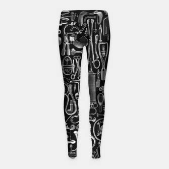 Thumbnail image of Medical Condition BLACK for Nurses and Doctors Girl's leggings, Live Heroes