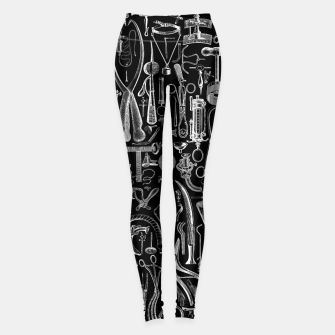 Thumbnail image of Medical Condition BLACK for Nurses and Doctors Leggings, Live Heroes