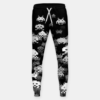 Thumbnail image of Invaded BLACK retro gaming pattern for gamer geeks Sweatpants, Live Heroes