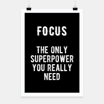Thumbnail image of Inspirational - FOCUS! Poster, Live Heroes