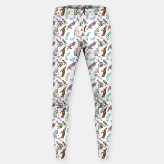 Thumbnail image of Medieval rabbit musicians Sweatpants, Live Heroes