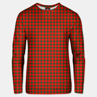 Tiny Holly Red and Balsam Green Christmas Country Cabin Buffalo Check Unisex sweater imagen en miniatura
