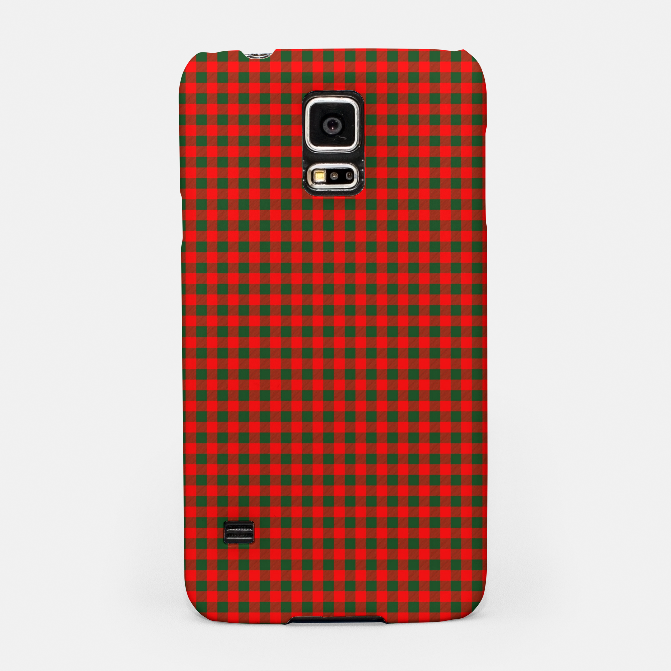 Imagen de Tiny Holly Red and Balsam Green Christmas Country Cabin Buffalo Check Samsung Case - Live Heroes