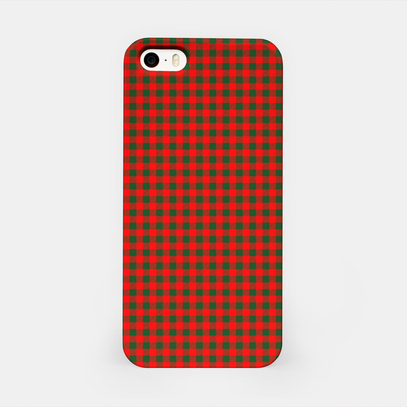 Imagen de Tiny Holly Red and Balsam Green Christmas Country Cabin Buffalo Check iPhone Case - Live Heroes