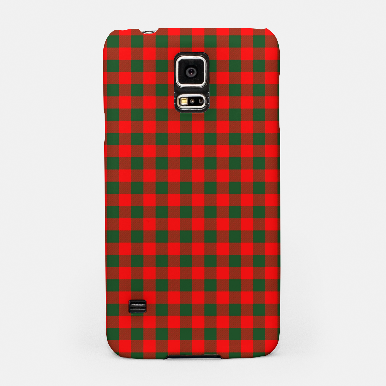 Imagen de Medium Holly Red and Balsam Green Christmas Country Cabin Buffalo Check Samsung Case - Live Heroes