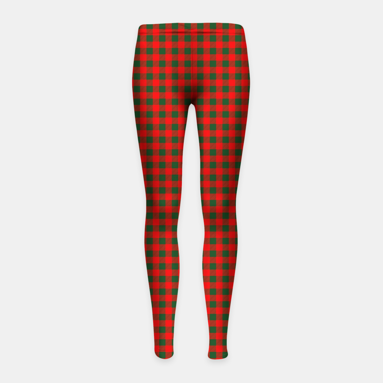 Imagen de Tiny Holly Red and Balsam Green Christmas Country Cabin Buffalo Check Girl's leggings - Live Heroes