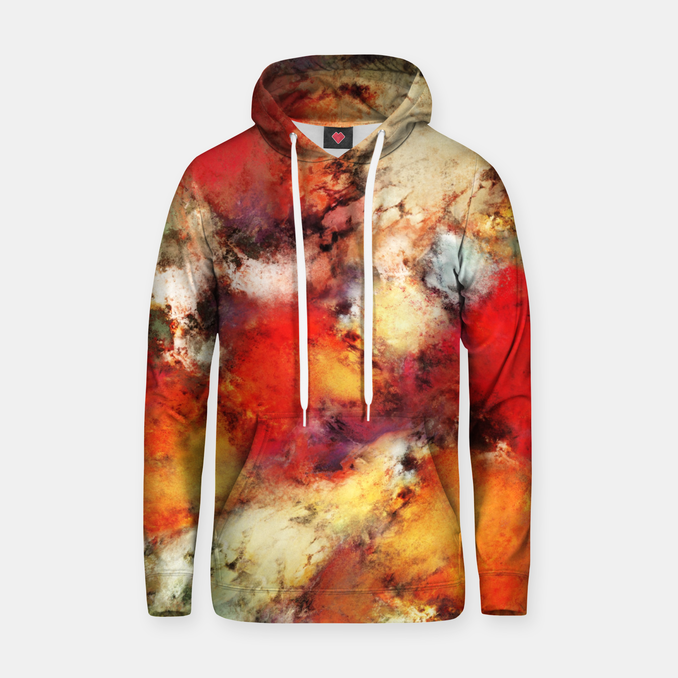 Image of Red colour identity Hoodie - Live Heroes