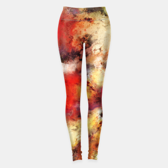 Thumbnail image of Red colour identity Leggings, Live Heroes