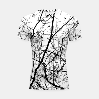Thumbnail image of Branches in black and white Shortsleeve rashguard, Live Heroes