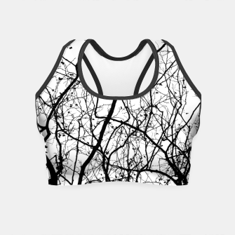Thumbnail image of Branches in black and white Crop Top, Live Heroes