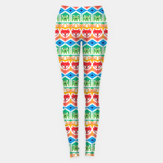 Thumbnail image of Fair Isle Foxes and Monsters – Leggings, Live Heroes