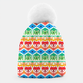 Thumbnail image of Fair Isle Foxes and Monsters – Beanie, Live Heroes