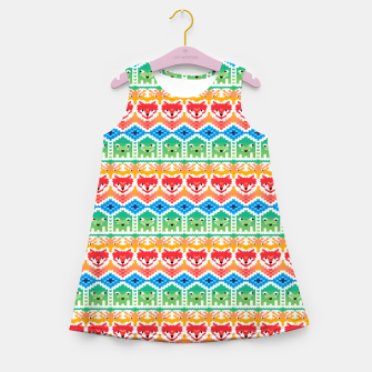 Fair Isle Foxes and Monsters – Girl's summer dress thumbnail image