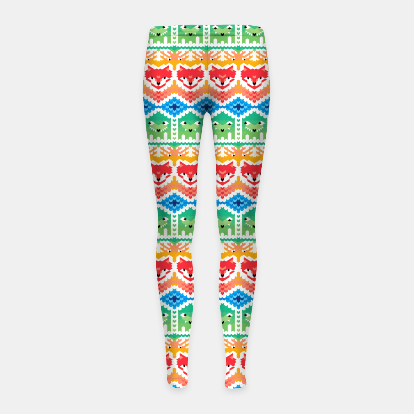 Image of Fair Isle Foxes and Monsters – Girl's leggings - Live Heroes