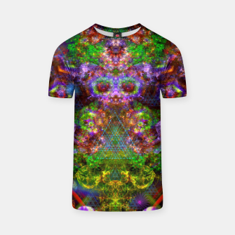 Miniaturka Thoughts Crack Open Like Alien Eggs (psychedelic, abstract) T-shirt, Live Heroes