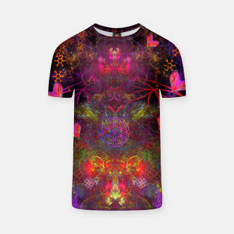 Miniaturka Love Exuded From The Crown (abstract, psychedelic, visionary) T-shirt, Live Heroes
