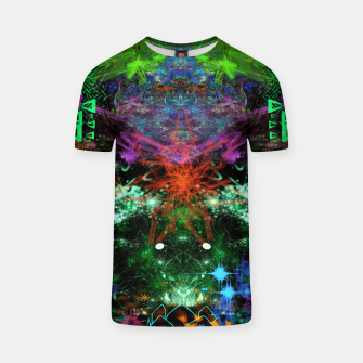 Miniaturka Suppressing A Gloomy Ghost (abstract, psychedelic) T-shirt, Live Heroes