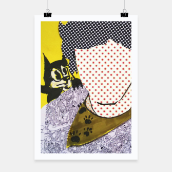 Thumbnail image of Felix cat by yulia a korneva collage portarit Poster, Live Heroes