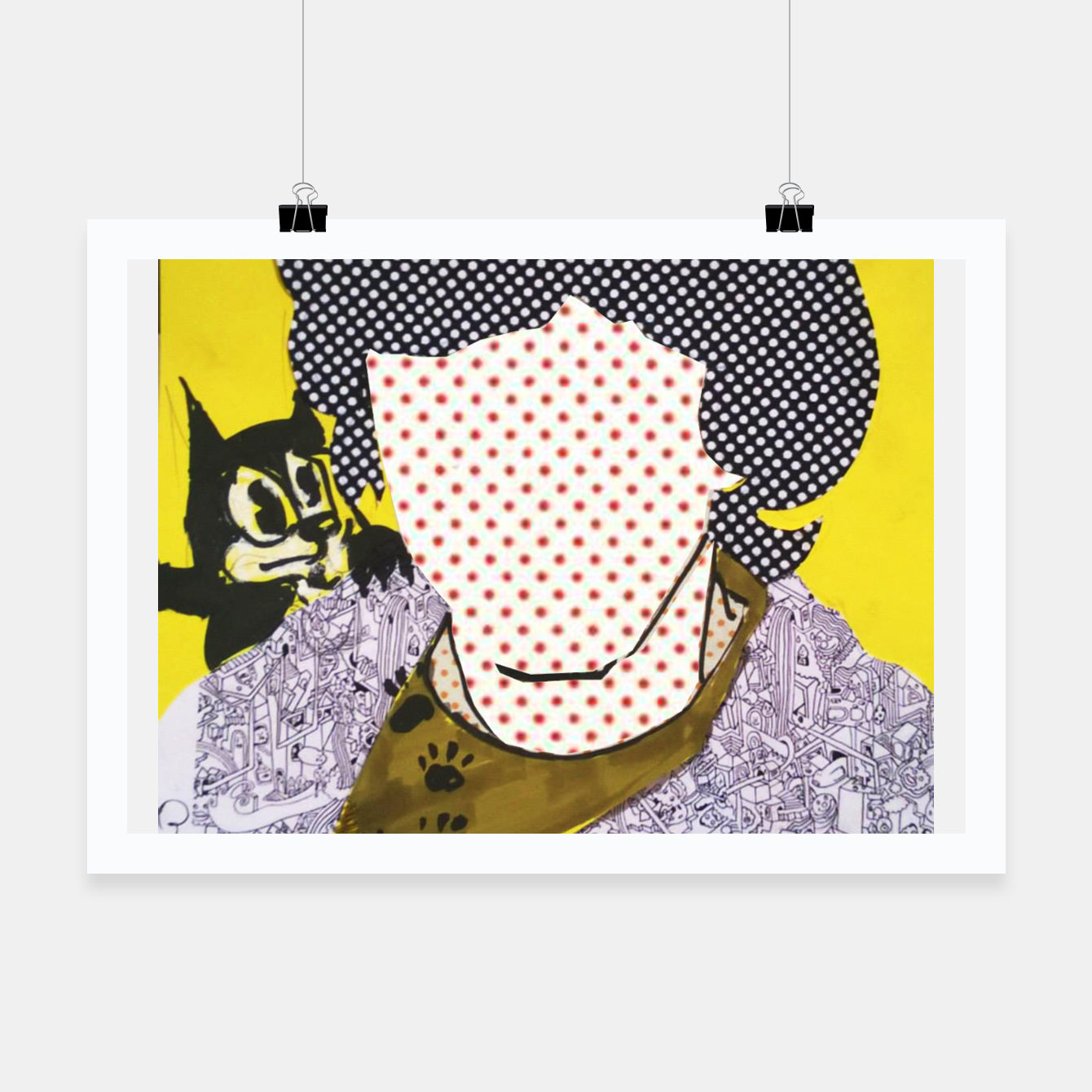 Image of Felix cat by yulia a korneva collage portarit Poster - Live Heroes