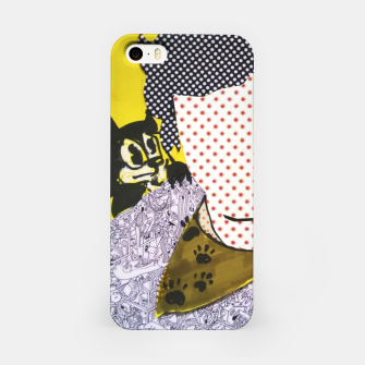 Thumbnail image of Felix cat by yulia a korneva collage portarit iPhone Case, Live Heroes