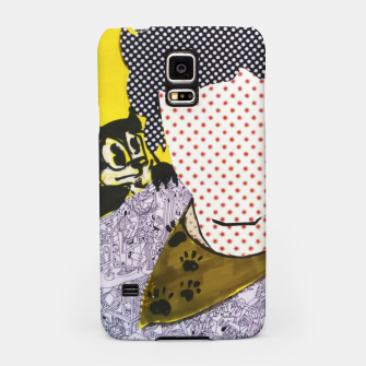 Thumbnail image of Felix cat by yulia a korneva collage portarit Samsung Case, Live Heroes
