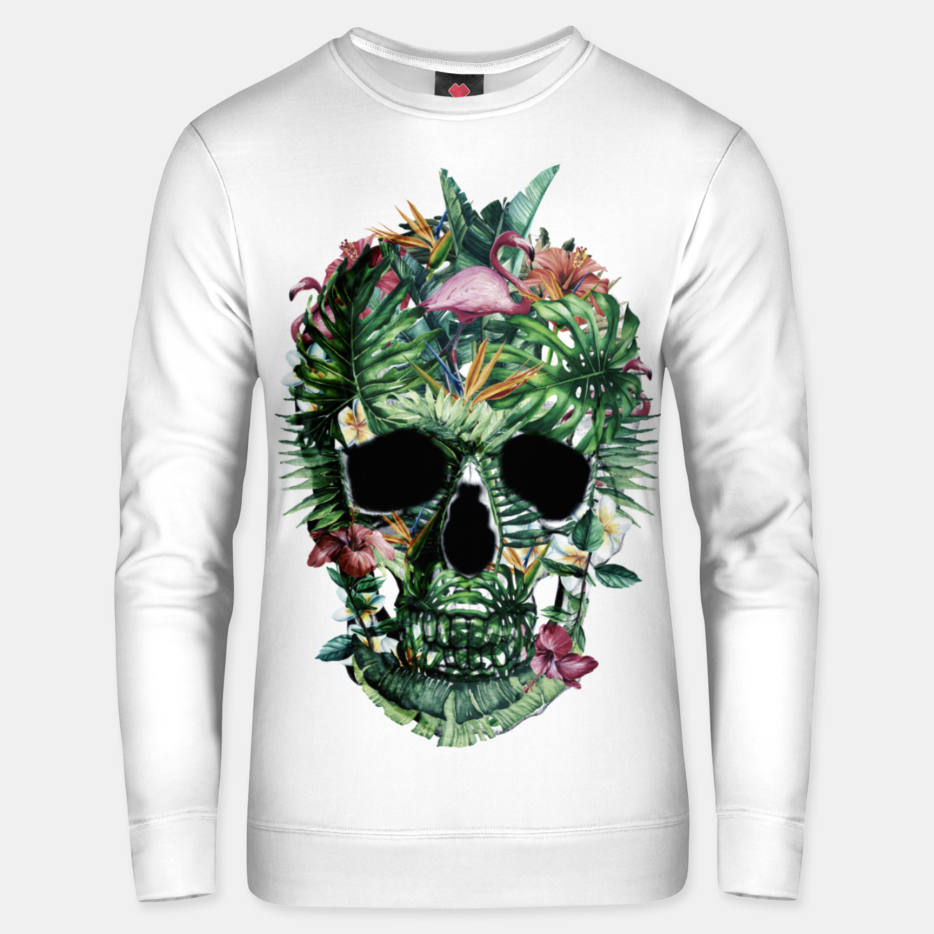 Image of Tropical Skull Unisex sweater - Live Heroes