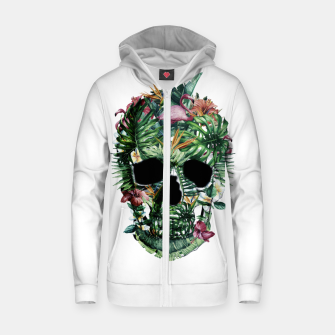 Tropical Skull Zip up hoodie thumbnail image