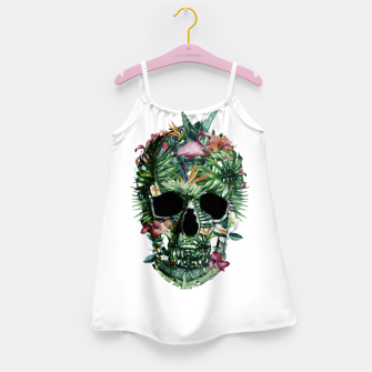 Tropical Skull Girl's dress thumbnail image
