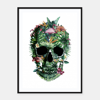 Tropical Skull Framed poster thumbnail image