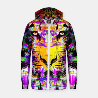Thumbnail image of Tiger Glitch Hoodie, Live Heroes