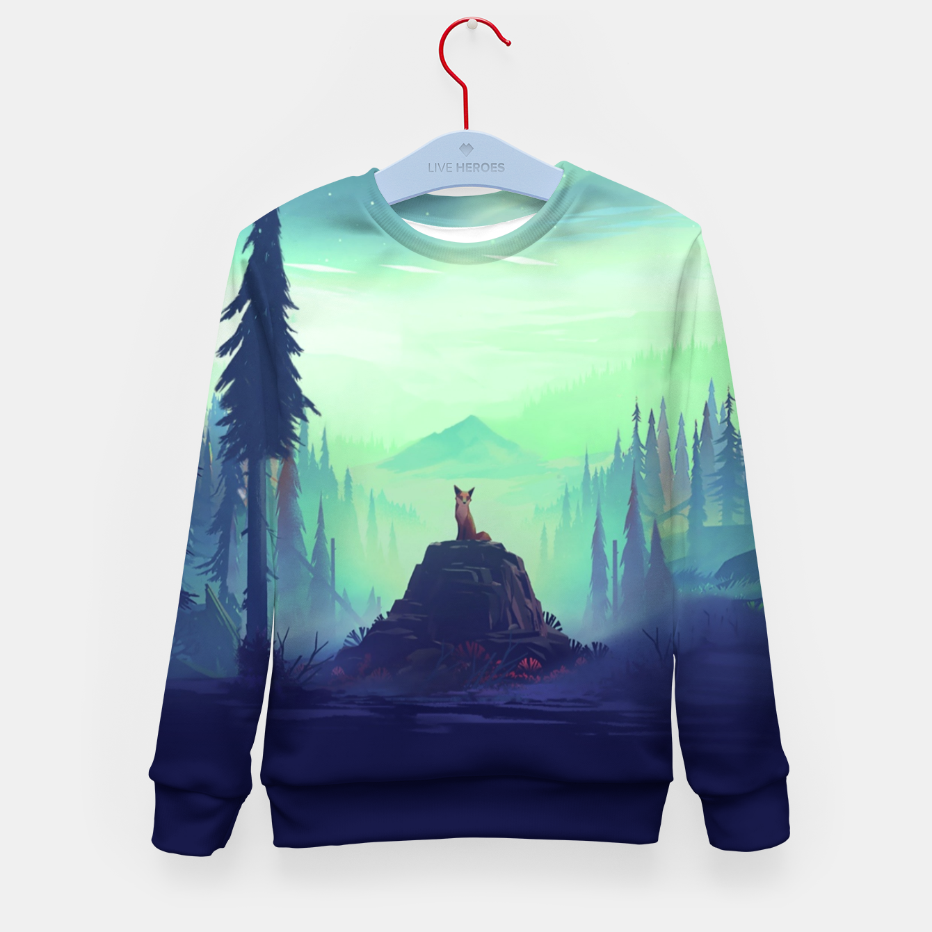 Image of Fantasy Fox Kid's sweater - Live Heroes