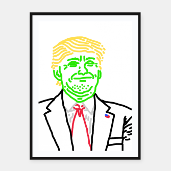 Thumbnail image of Trump vert Framed poster, Live Heroes