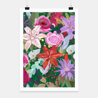 Thumbnail image of Lily and colorful pretty flowers  Poster, Live Heroes