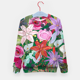 Thumbnail image of Lily and colorful pretty flowers  Kid's sweater, Live Heroes