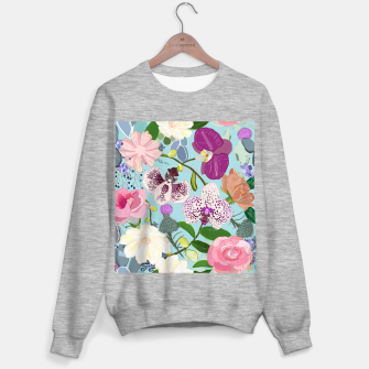 Thumbnail image of Orchid, succulent and roses colorful flowers Sweater regular, Live Heroes
