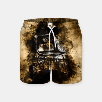 Thumbnail image of gxp chair at lost place splatter watercolor Swim Shorts, Live Heroes