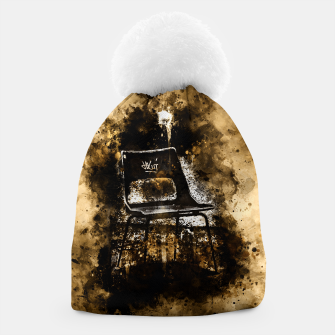 Thumbnail image of gxp chair at lost place splatter watercolor Beanie, Live Heroes