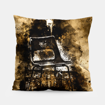 Thumbnail image of gxp chair at lost place splatter watercolor Pillow, Live Heroes