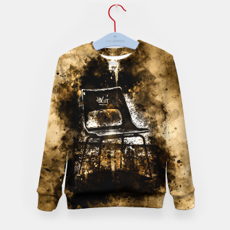 Thumbnail image of gxp chair at lost place splatter watercolor Kid's sweater, Live Heroes