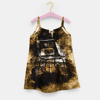 Thumbnail image of gxp chair at lost place splatter watercolor Girl's dress, Live Heroes